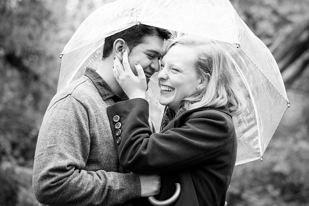 Heather  Jasons Rainy Day Engagement Shoot - Image Property of www.j-dphoto.com