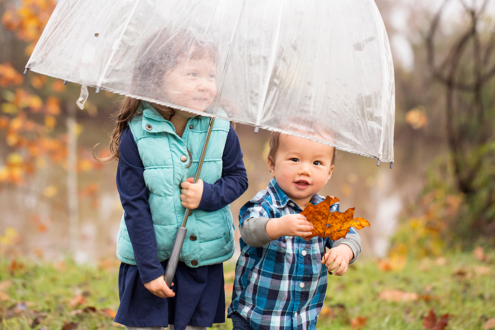 Rainy Day Fall Family Portrait Session - Image Property of www.j-dphoto.com