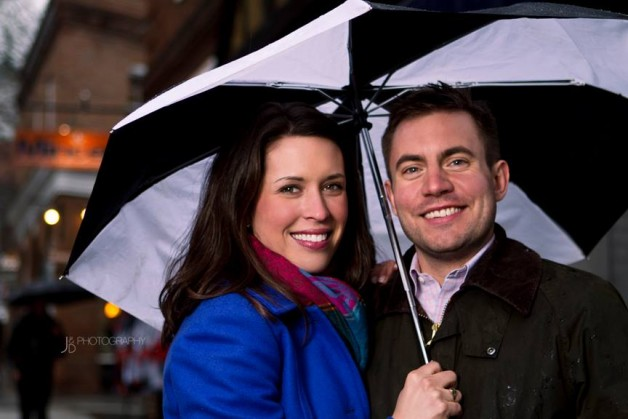 What to do if it rains during your engagement shoot - Image Property of www.j-dphoto.com