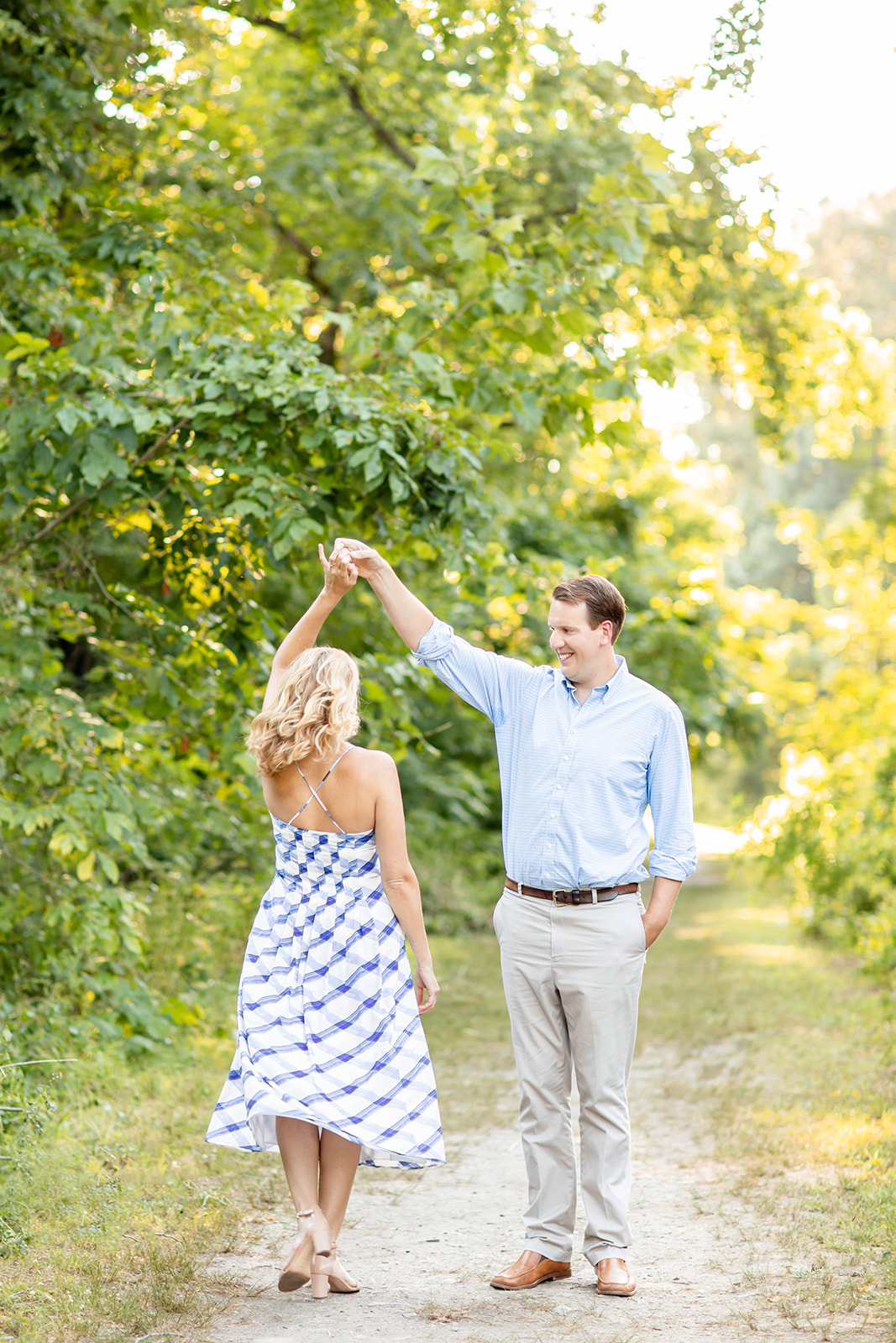 Abby  Matts Engagement Session at Pumphouse Park and The Fan - Image Property of www.j-dphoto.com