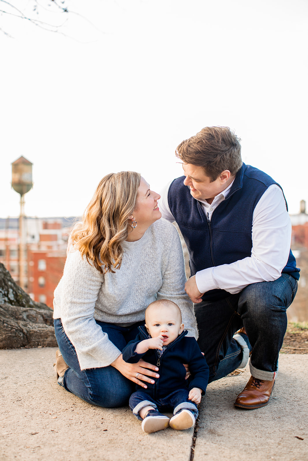 Wesleys One Year Old Photos at Libby Hill Park - Image Property of www.j-dphoto.com