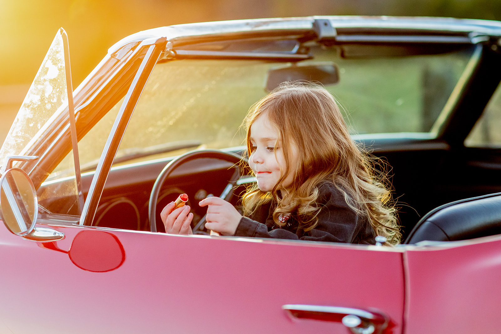 Bogue Family Photos with a Vintage Red Camaro - Image Property of www.j-dphoto.com