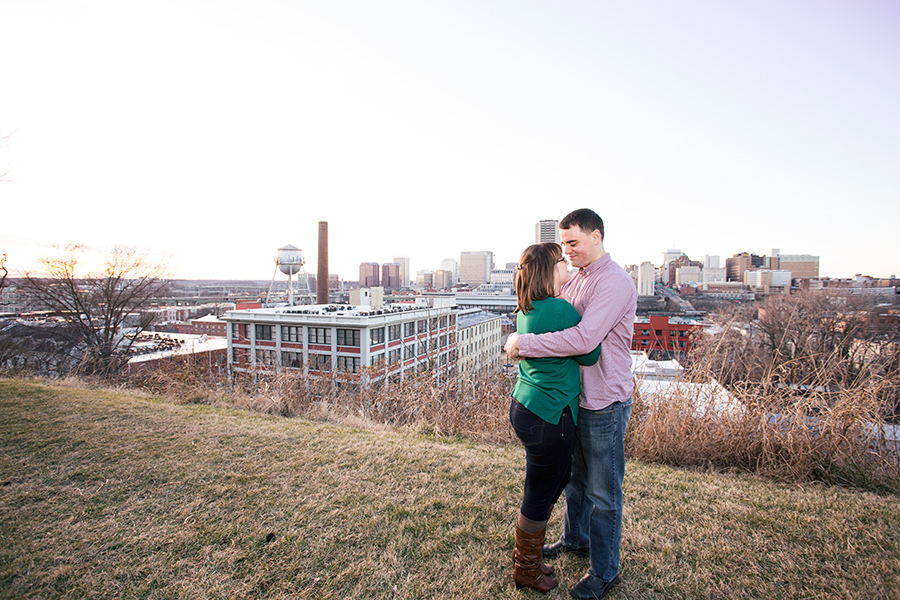 Winter Engagement Photos in Church Hill - Image Property of www.j-dphoto.com