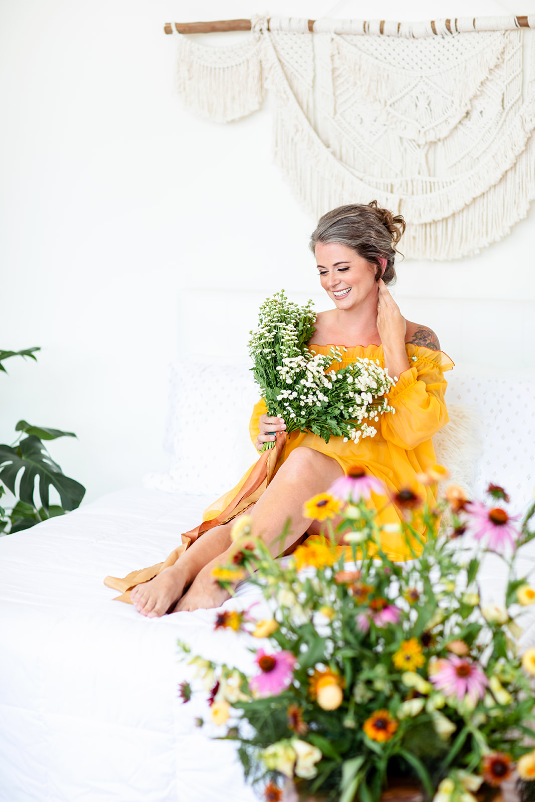 Floral Inspired Colorful Boudoir Session - Image Property of www.j-dphoto.com
