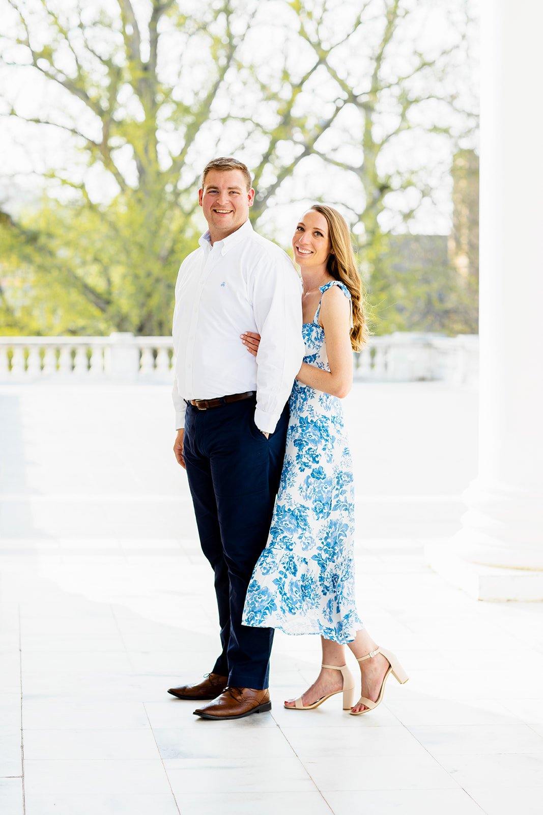 Rebecca  Johns University of Virginia Engagement Photos - Image Property of www.j-dphoto.com