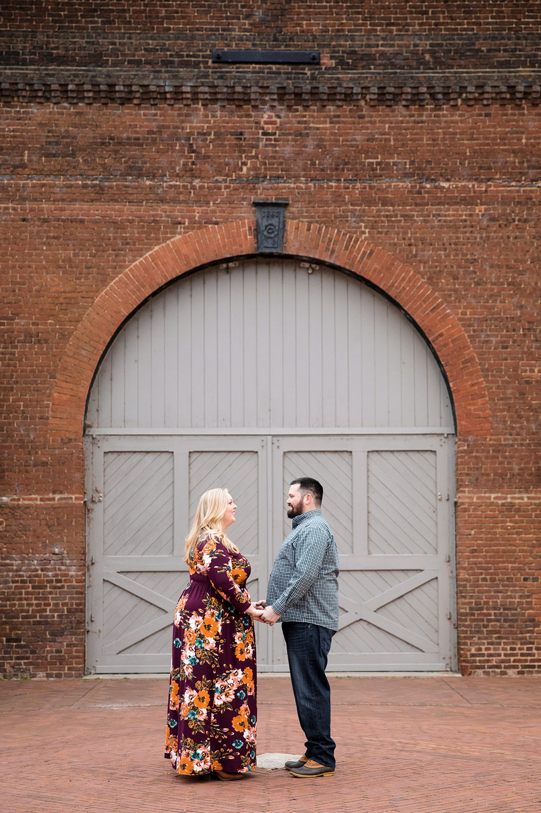 Justin  Marys Engagement Shoot at Tredegar Iron Works - Image Property of www.j-dphoto.com