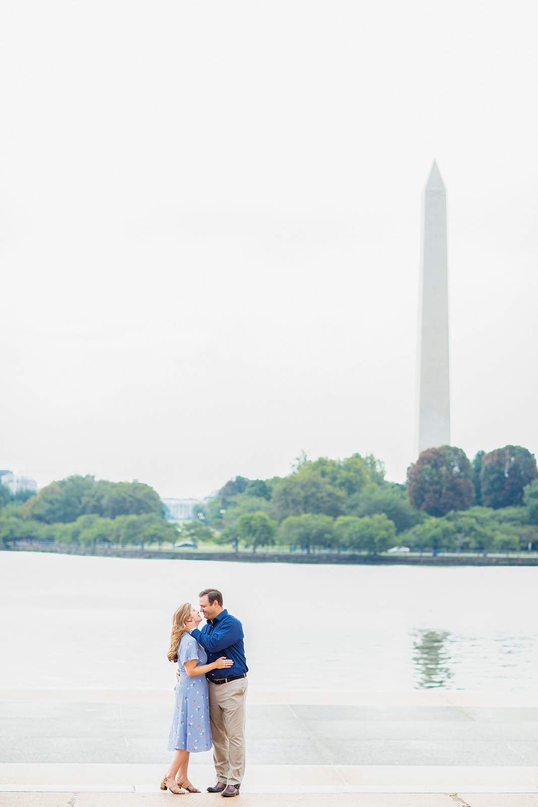 Kathryn  Charlies Engagement Shoot at the Jefferson Memorial - Image Property of www.j-dphoto.com