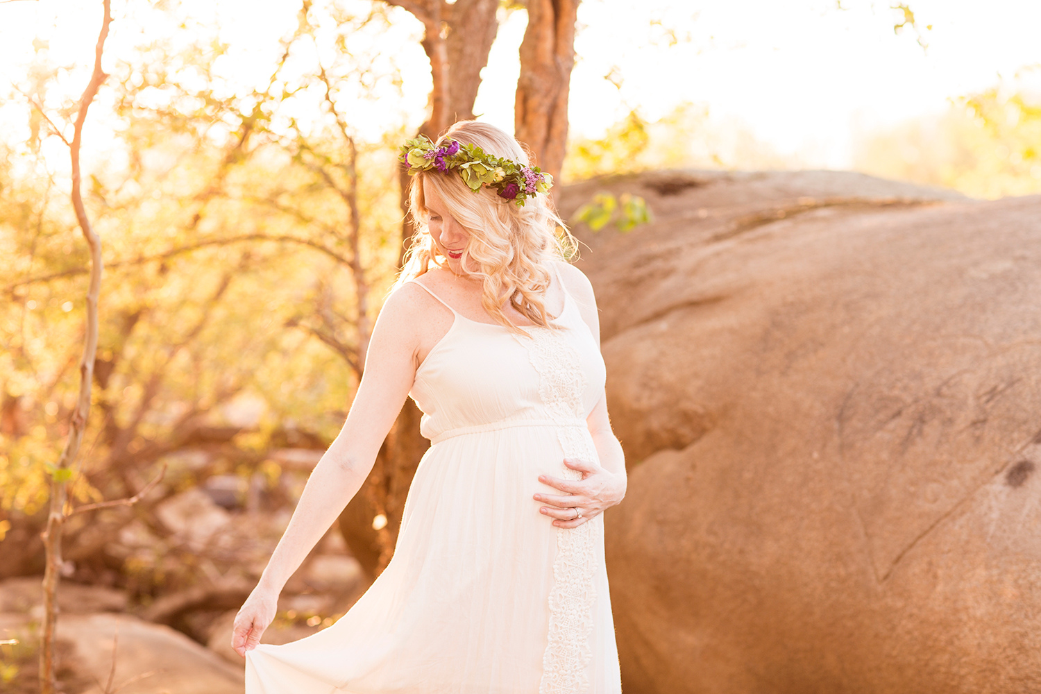 Kristin  Jesses Flower Crown Maternity Session - Image Property of www.j-dphoto.com