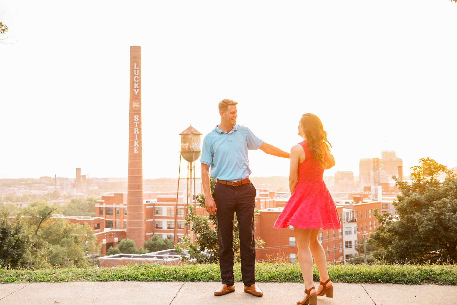 Rachel  Drews Romantic Libby Hill Engagement Shoot - Image Property of www.j-dphoto.com