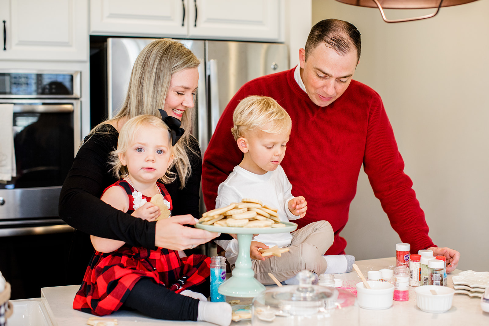 At Home Christmas Family Photos Baking Cookies and Smores - Image Property of www.j-dphoto.com